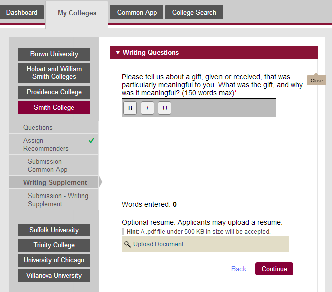 common app resume upload The application form is the foundation of your admission file your job is to make sure it is complete, accurate, and submitted on time the common app tab.